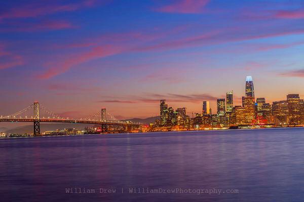 San Francisco Bay Bridge Sunset - San Francisco Wall Murals