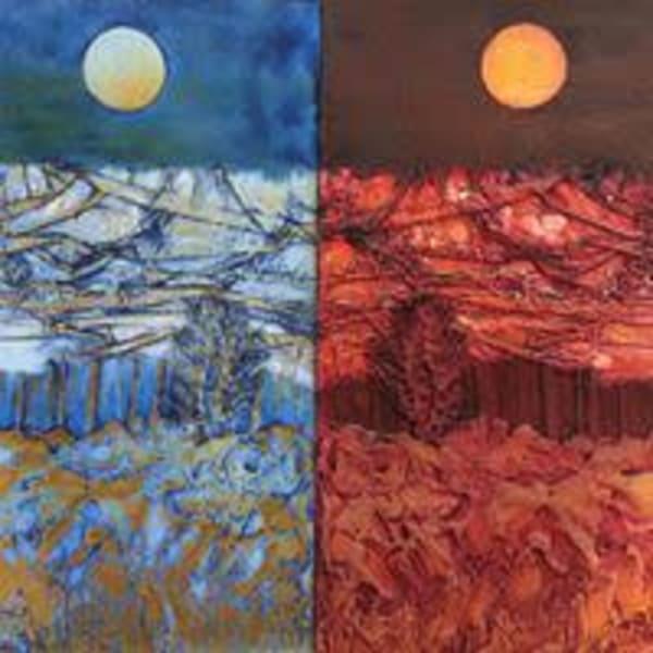 Landscape Plate And Print. Art | Susanne Clark