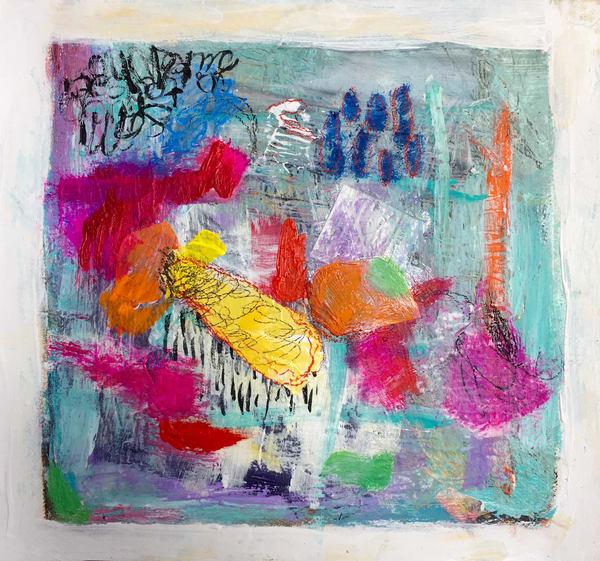Reddish Orange Morning Art | Mary Kinzelberg Art