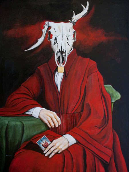 The Unnatural Selections:'The Fortune Teller' Large Painting by Portland Artist David from Cool Art House