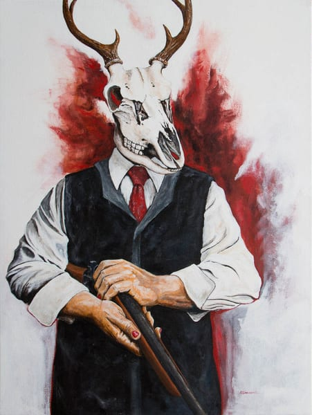 The Unnatural Selections:'The Hunter' Large Painting by Portland Artist David from Cool Art House