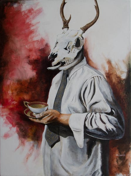 The Unnatural Selections:'The Distinguished Gentleman' Large Painting by Portland Artist David from Cool Art House