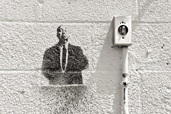 Alfred Hitchcock Stenciled Art | Shaun McGrath Photography