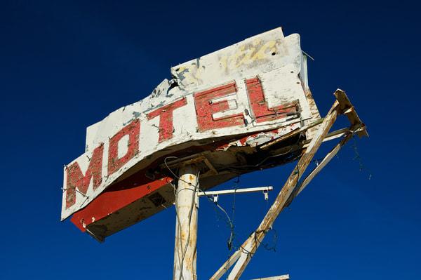 Dilapidated Motel Sign