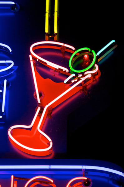 Neon Martini Art   Shaun McGrath Photography