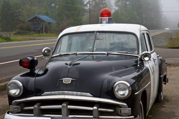 Vintage Police Car Art | Shaun McGrath Photography