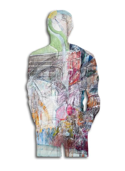 Personage no.3 - a shaped painting by Rick Wedel