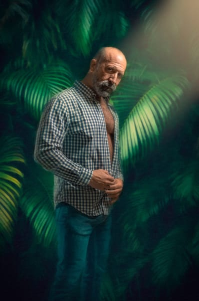 Tim With Palm Fronds, men of a certain age, Ben Fink art prints, photo