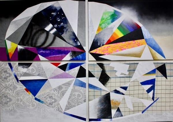 'Odgan' Brilliant-cut Diamond Quartet, Jewel Art by Upcycling Artist S.P. from Cool Art House