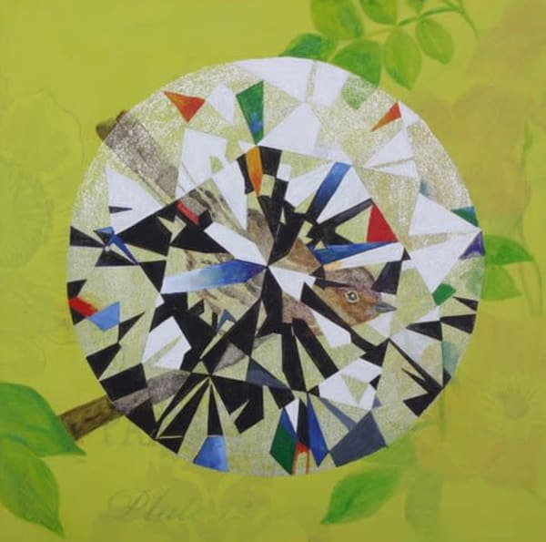 'Lalahon' Brilliant-cut Diamond, Jewel Art by Upcycling Artist S.P. from Cool Art House