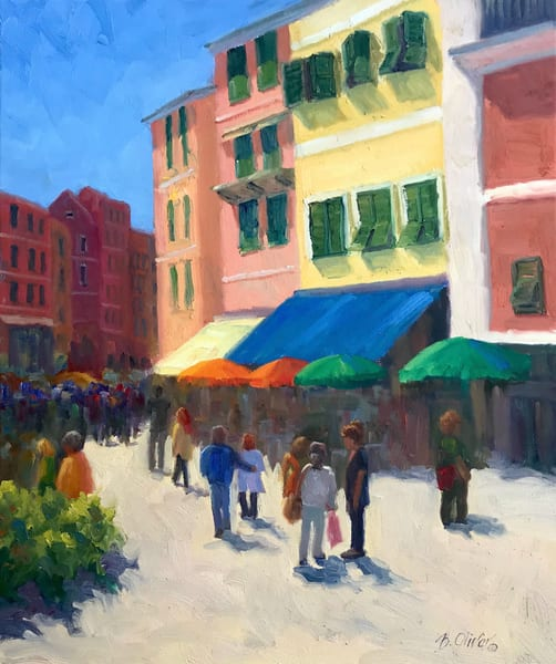 Sunny Saturday   Vernazza Art | B. Oliver, Art
