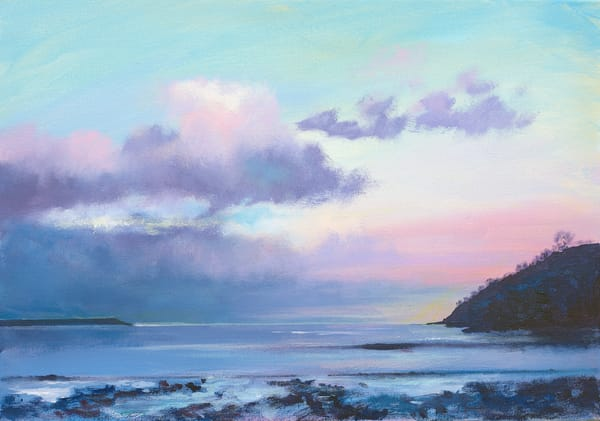 Oxwich Bay Gower Painting