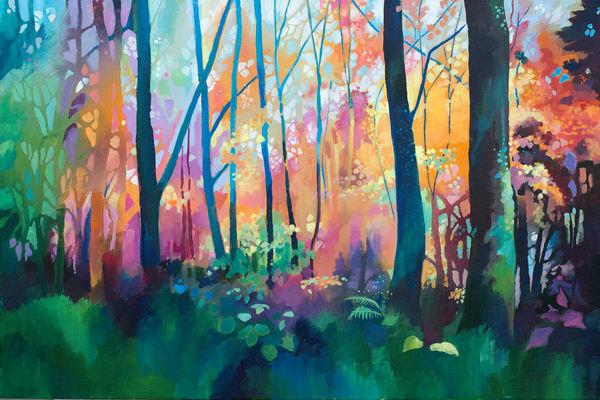 Woodland In Autumn Original Painting
