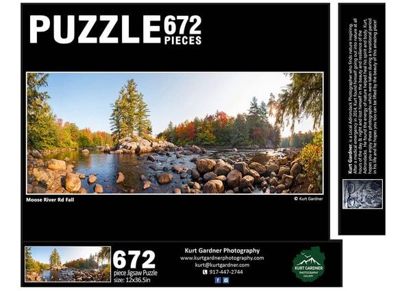 In Stock Moose River Fall Panoramic Puzzle | Kurt Gardner Photogarphy