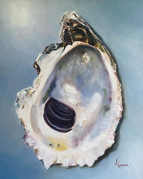 Chicoteague Salt Oyster Original Oil Painting by Kristine Kainer