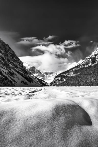 Lake Louise in Wintertime- still a stunner. Banff National Park|Canadian Rockies|Rocky Mountains|