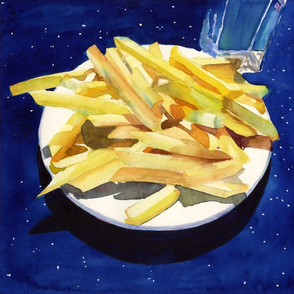 salted diner fries