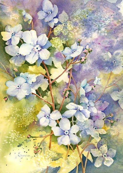 Forget me Nots fine art print by Karen Shanahan.