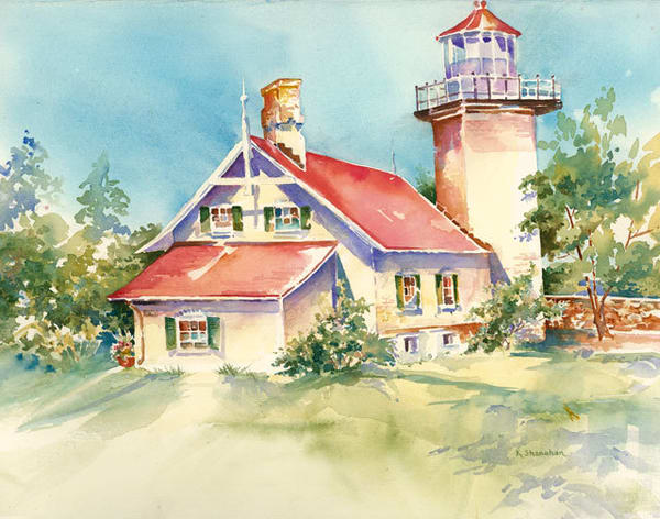 Eagle Bluff Lighthouse fine art print by Karen Shanahan.