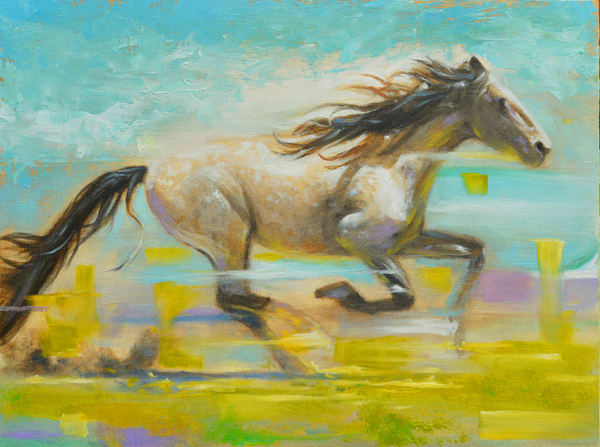 "Like the Wind - 9"" X 12"" sold to a collector in Saint Louis, MIssouri."