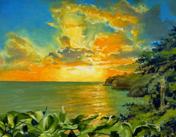Golden Dawn is an oil painting by James Loveless Jr.