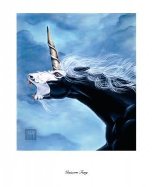 Unicorn Fury Limited Edition Print