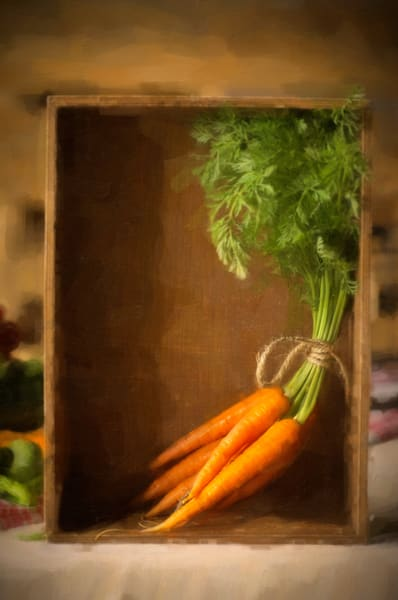 Bundled Carrots With String, Still Life, Ben Fink art prints, photo