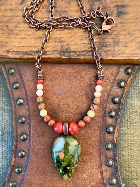 Heart Stone Necklace Art | Mickey La Fave
