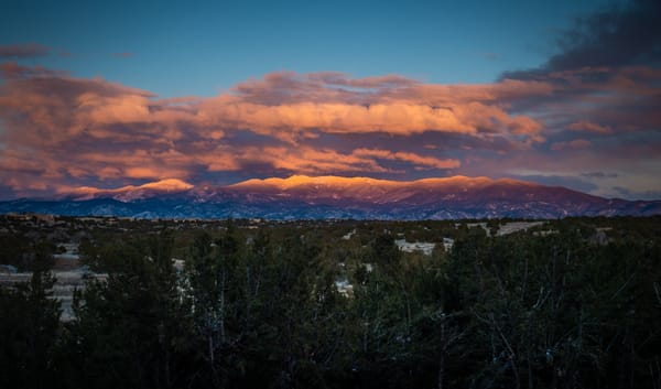 Last Light on Sangre De Christo Mountains