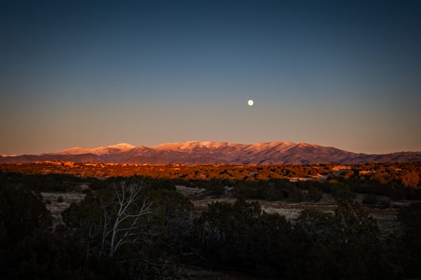 Moonrise above Sangre De Christo Mountains