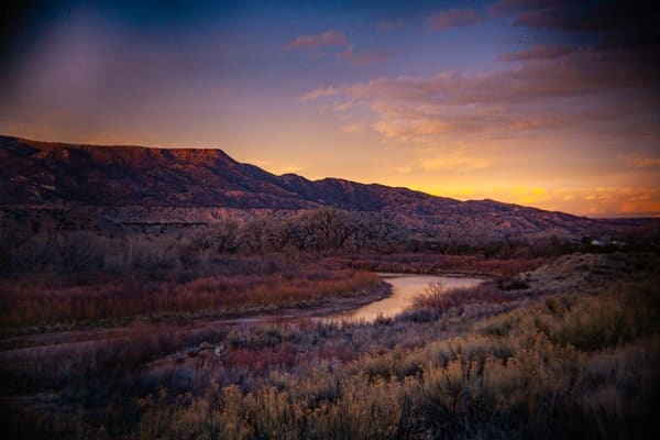Sunset, Chama River Abiquiu