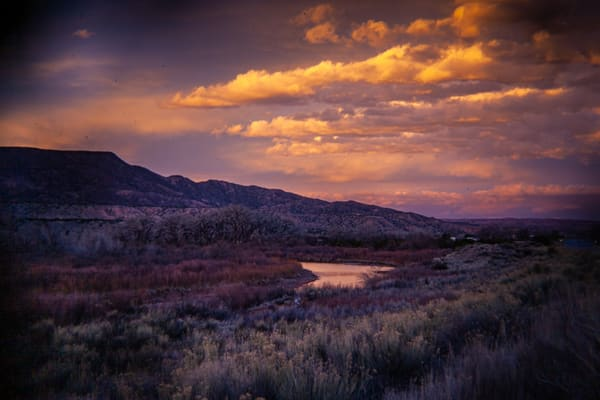 Sunset Clouds Over Chama River Abiquiu