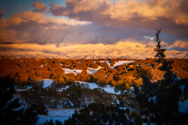 Winter Sunset, Sangre De Christo Mountains