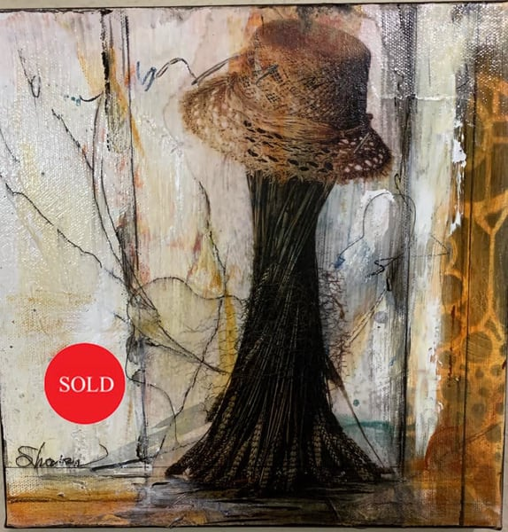 United States, Hat, window, abstract, mixed media, collage, art, mixed media, fine art