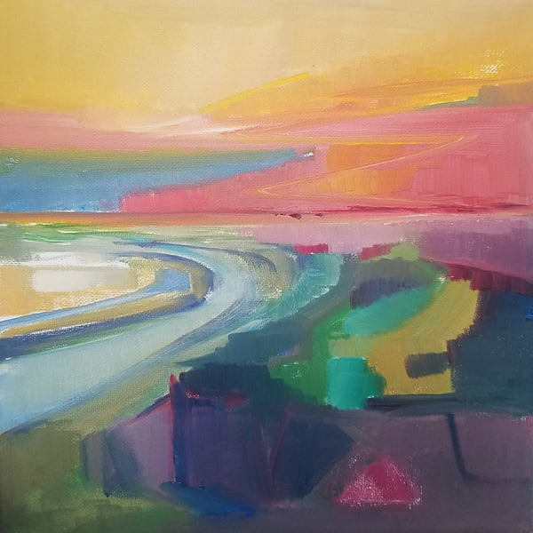 Cool Morning Light At East Beach Art   Peg Connery-Boyd Artwork