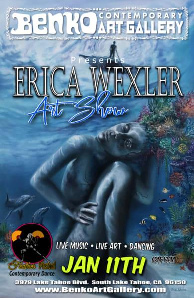 Erica wexler art show poster cvsafq