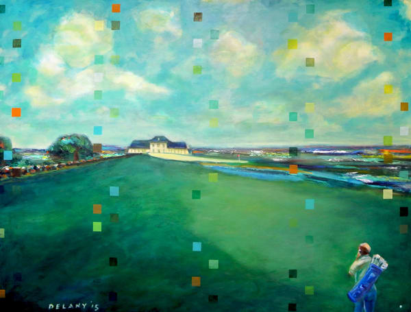 """Newport Country Club,"" an original painting"