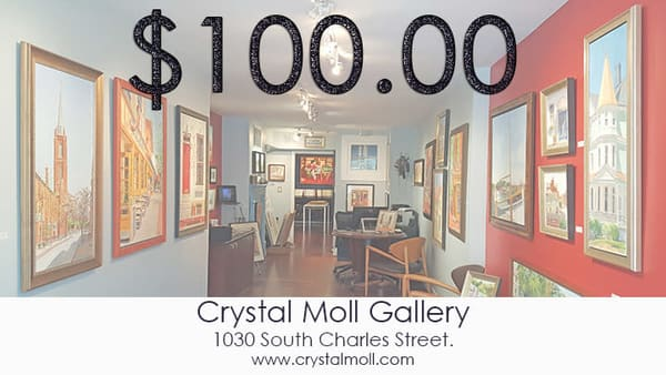 Crystal Moll Gallery Gift Certificates, Art Gift Cards for use at the Crystal Moll Gallery!