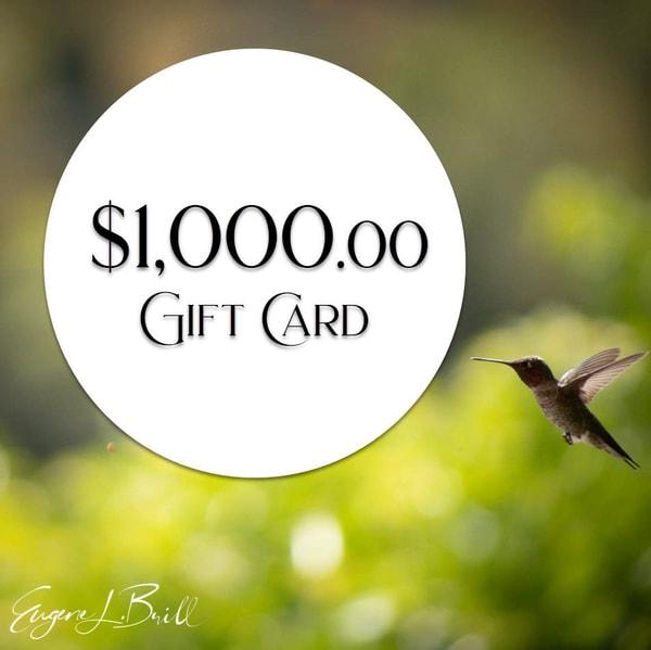 Eugene Brill $1000 Gift Card Fine Art Photography | Eugene L Brill