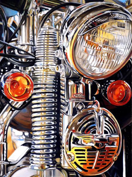 Three Lights And A Horn Art | Allan Gorman Fine Art