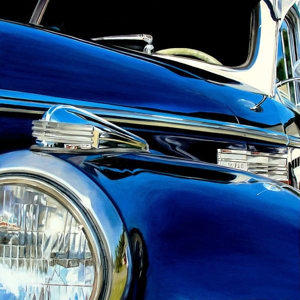 Blue Buick Art | Allan Gorman Fine Art