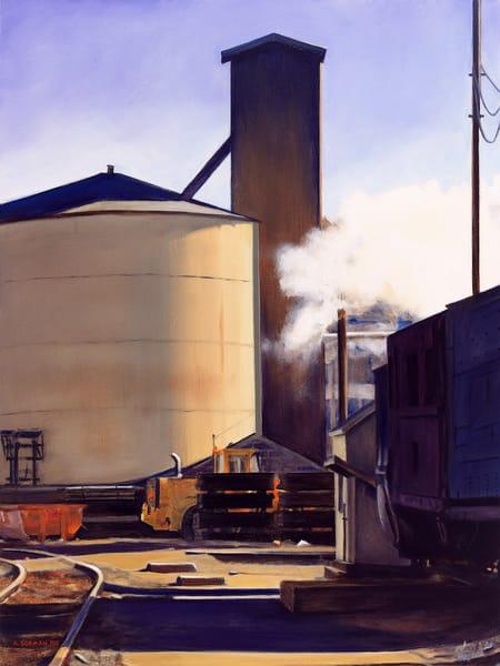 Afternoon In The Steamtown Yards Art | Allan Gorman Fine Art