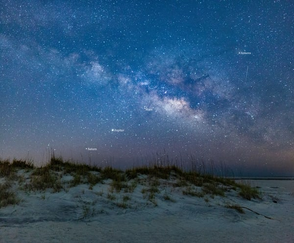 Three Planets above Tybee