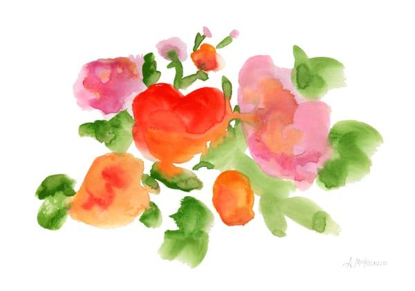 Orangey Flowery Fine Art Print