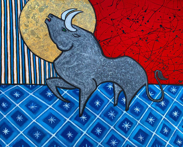 Taurus Bull Painting Artist Paul Zepeda Art | Wet Paint NYC