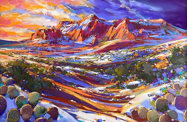 Sedona Winter Blue Art | Michael Mckee Gallery Inc.