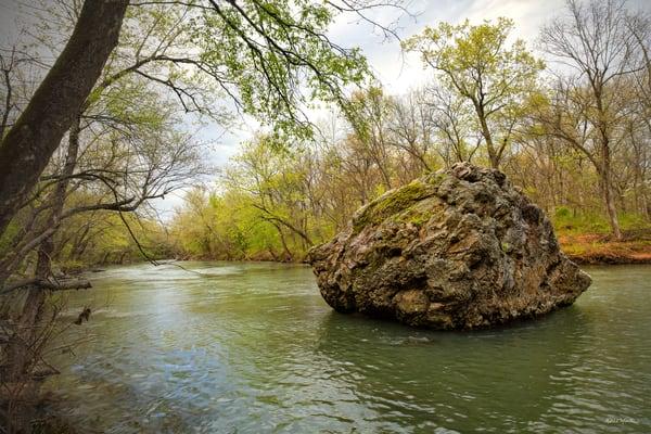 Shoal Creek Boulder 7323 Fs Art | Koral Martin Fine Art Photography
