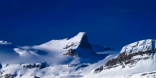 St. Nicholas Peak and the Wapta Icefields in Banff National Park. Canadian Rockies| Rocky Mountains|
