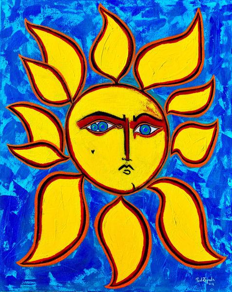 Sun Face Ii Art | Wet Paint NYC