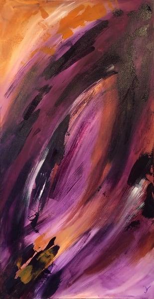 Amethyst Fire (Original) Art | Jen Sterling LLC